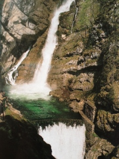Valley Bohinj - over 60m high waterfall Savica
