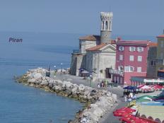 Piran, the jewel of the Slovenian Riviera - 1.5 hours away