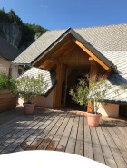 hayloft entrance from the terrasse